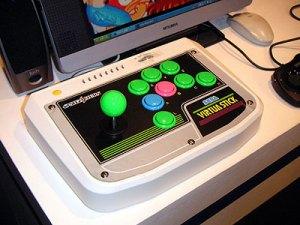 The Sega Saturn Virtua Stick.