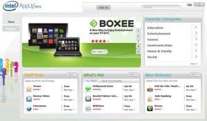 Intel's AppUp Netbook App Store.